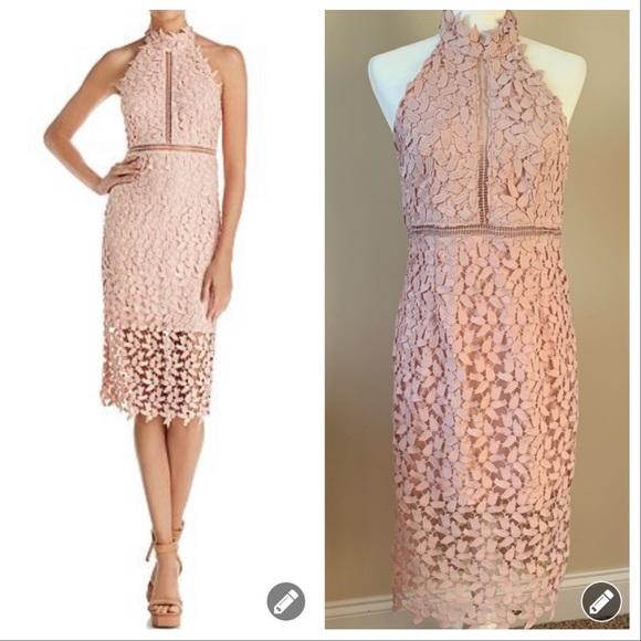 Bardot Dresses & Skirts - NWT! Bardot Gemma open lace dress in Rosewater 113